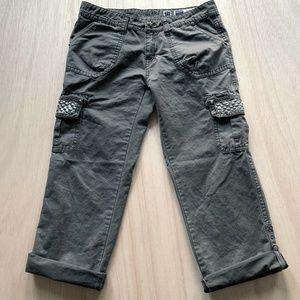 Miss Me Crop Cargo Roll up leg Pants Womens